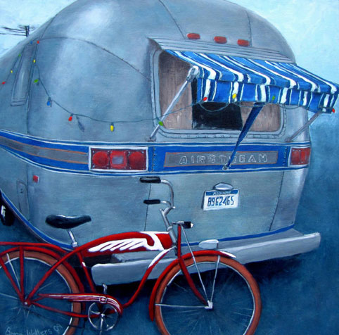 '82 Airstream <br />and '47 Schwinn